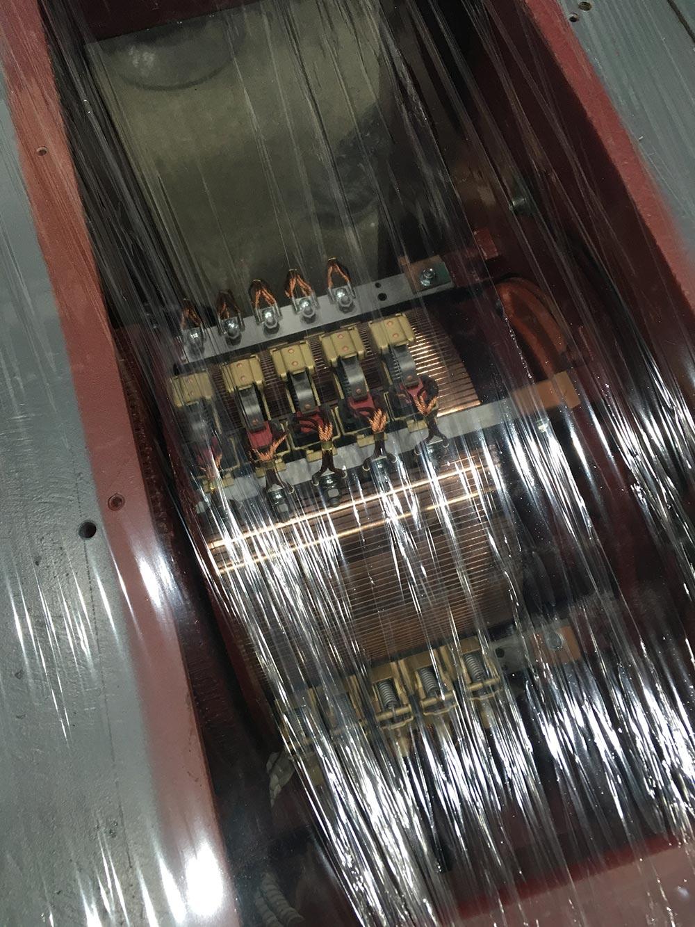 ASEA motor top view through shrink wrap