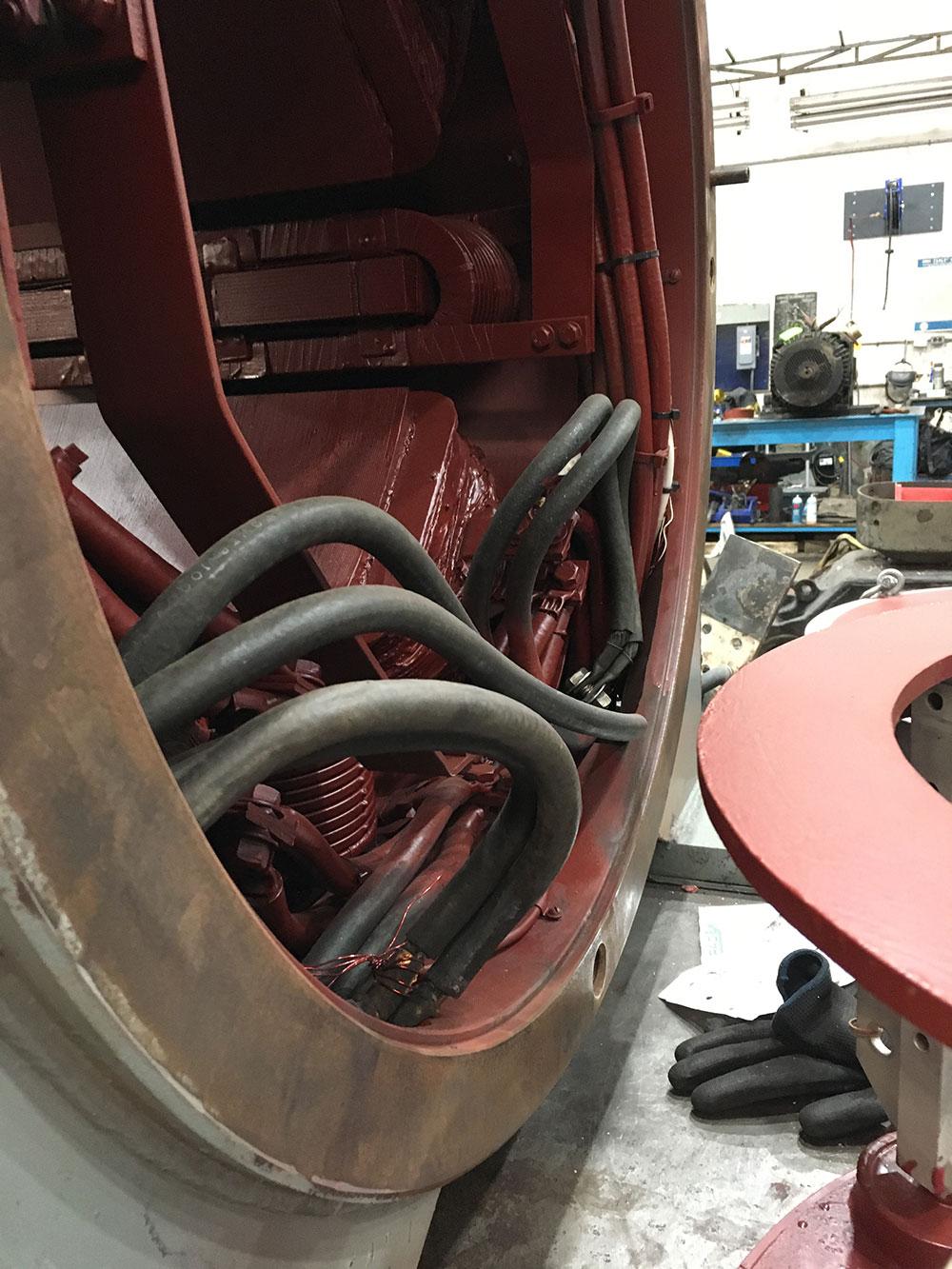 Closeup of GE 750HP DC motor